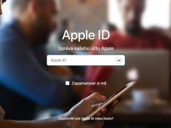 Obnovení hesla - Apple ID