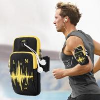 Univerzális sportos tok / borító kézre Apple iPhone / iPod - fekete-sárga