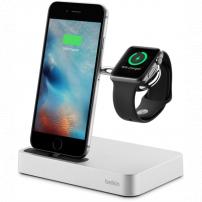 Stativ încărcător Belkin Valet, pentru Apple Watch a iPhone - argintiu