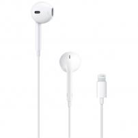 Cască originală Apple EarPods cu microfon şi conector lightning, pentru Apple iPhone / i Pad - alb