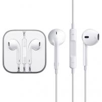 Slúchadlá smikrofónom adiaľkovým ovládaním pre zariadenia Apple - biela