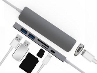 Macbook - USB-C hliníkový rozbočovač - konektivita