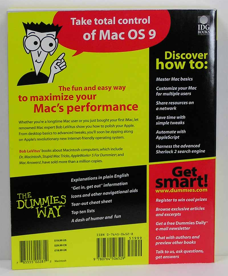 Mac os 9 for dummies apple rescue of denver for Apple product book