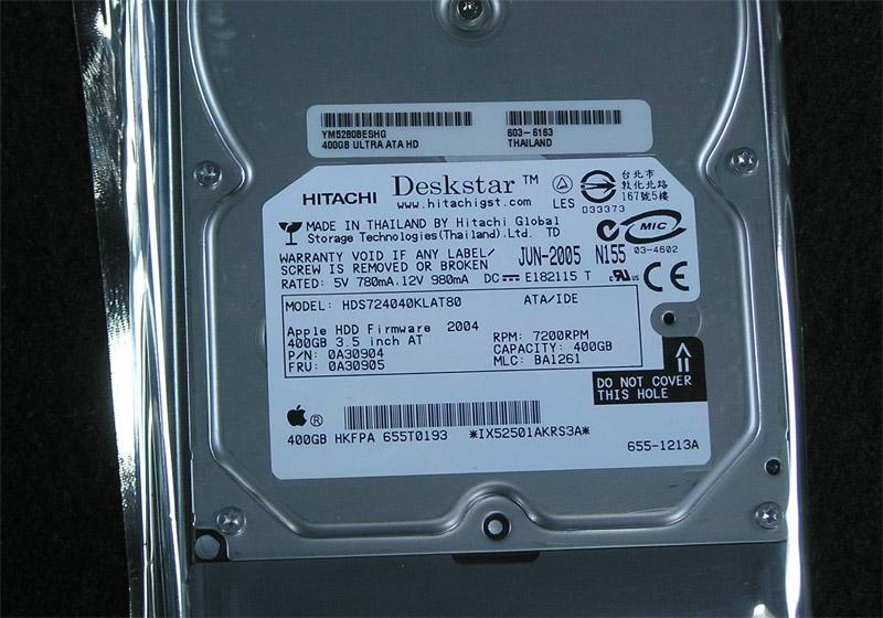apple drive module 400 gb hard drive apple rescue of. Black Bedroom Furniture Sets. Home Design Ideas