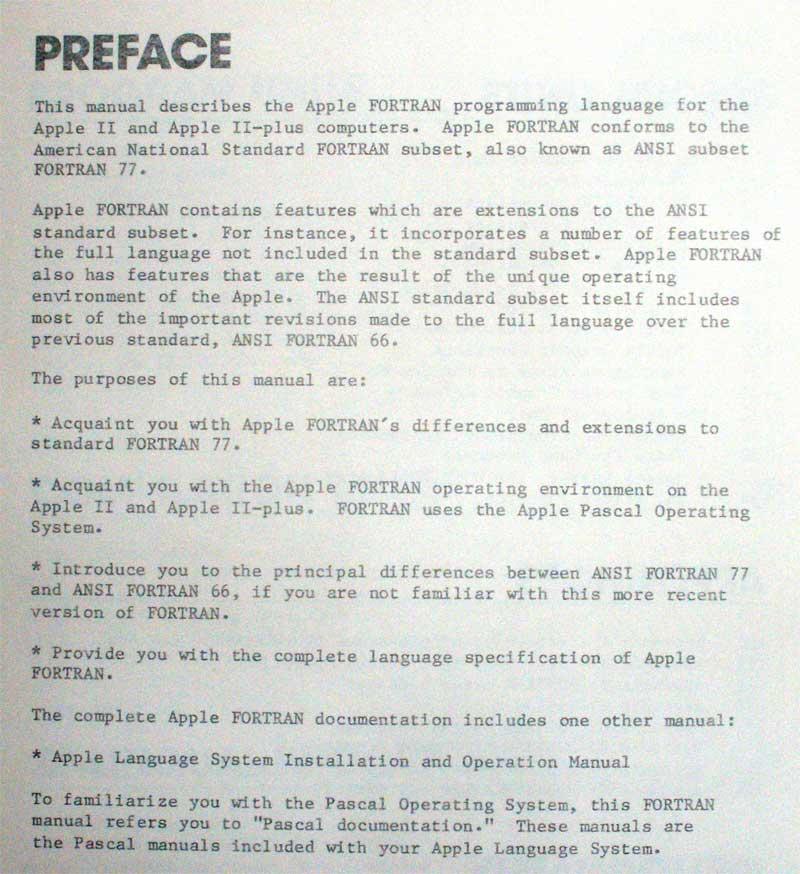 Fortran manual Online