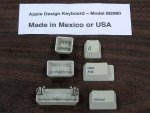 Apple Design Keyboard Key Caps (Mexico or USA)(Light)