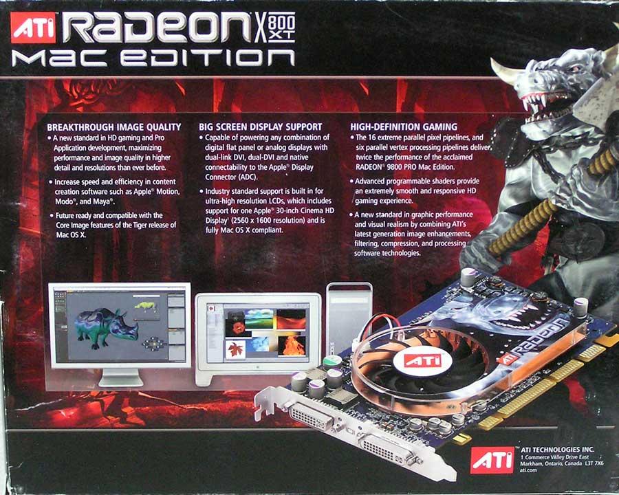 ATI Radeon X800XT Video Card Power Mac G5 – Apple Rescue of