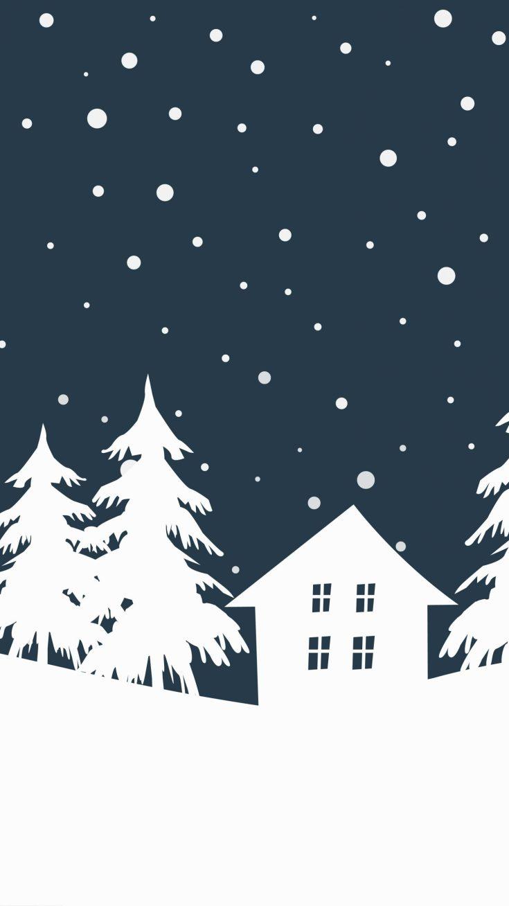 Free Winter Holiday Phone Wallpaper. Cute, fun, and folksy!