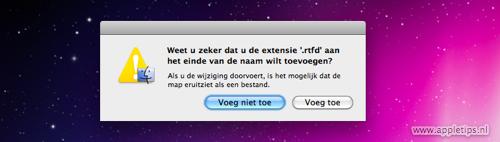 OS X: Bestanden verstoppen in .rtfd mappen appletips