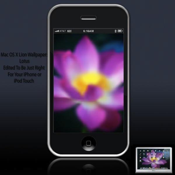 Mac OS X Lion Lotus wallpaper