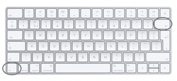 Delete toets op een Mac