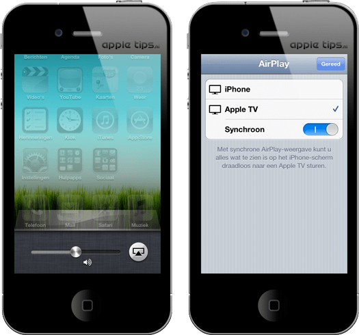 how to connect iphone 4s to airplay