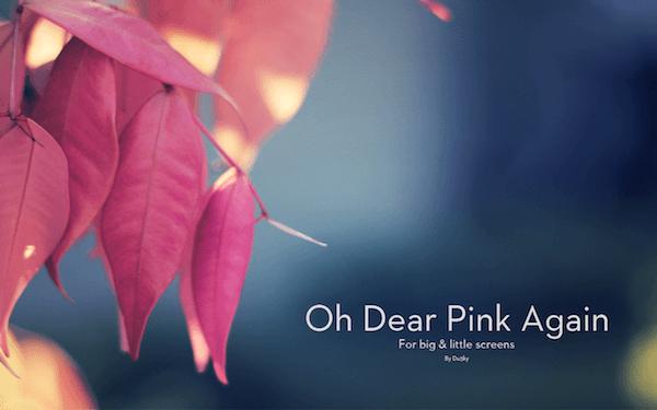 Oh dear pink again..