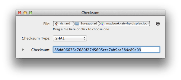 OS X: Bestanden valideren met SHA1/MD5 checksum - appletips