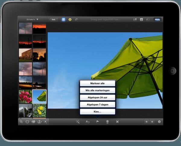 meerder markeer opties in iPhoto
