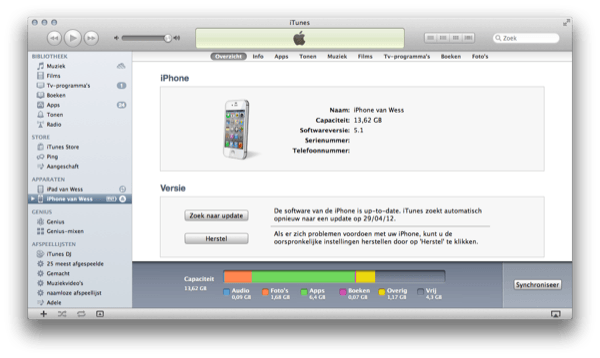 Overige iTunes iPhone