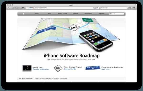 Apple.com door de jaren heen