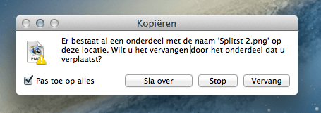 bestanden overslaan in finder