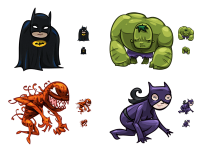 Heroes & Villains icons