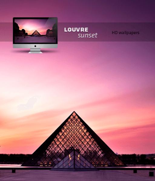 Sunset Louvre