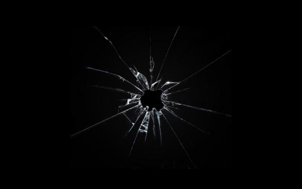 Apple broken glass