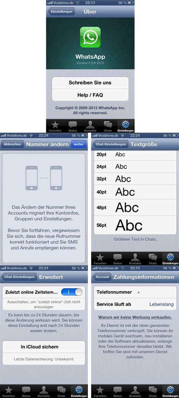 Screenshots opgedoken van WhatsApp 2.0