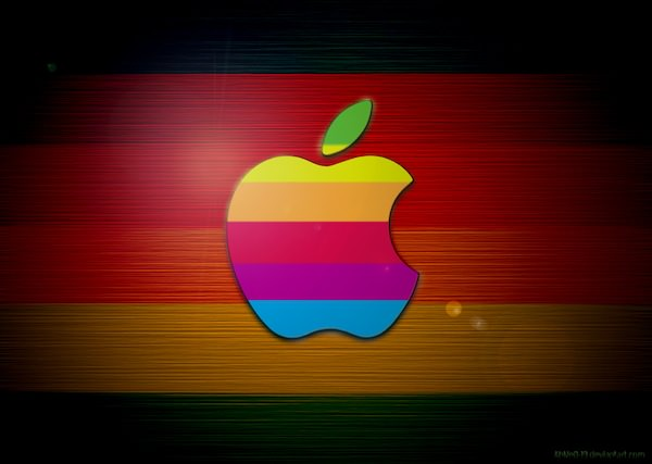 Apple Colorful Wallpaper