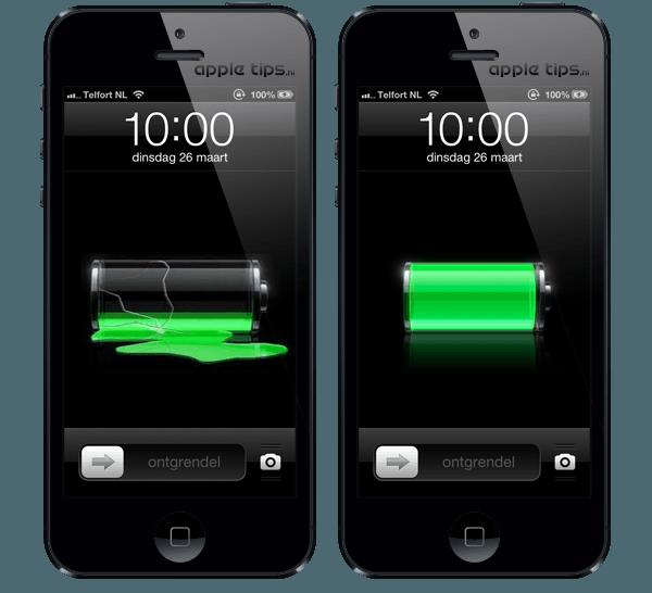 Verkorte batterijduur na de installatie van iOS 6.1.3