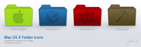 Colorful OS X icons