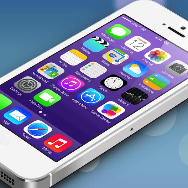 iOS 7 purple