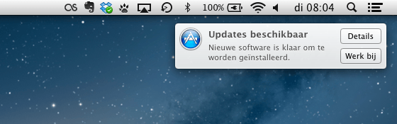 softwareupdate melding