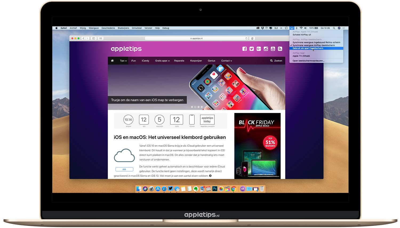 Mac Apple Tv Gebruiken Als Extern Beeldscherm Via Airplay