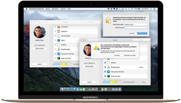 iCloud uitschakelen OS X