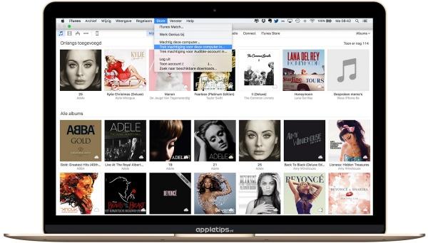 iTunes machtigingen uitschakelen in OS X