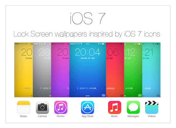 Inspired by iOS 7 icons