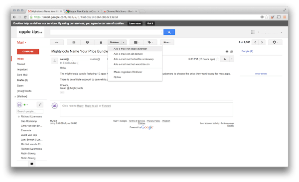 gmailblokkeer