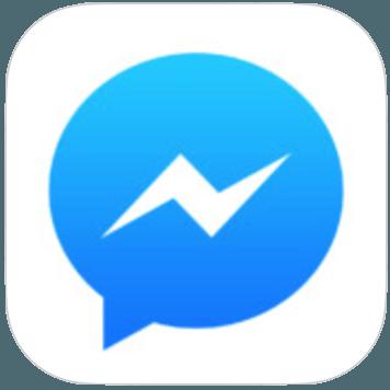 logo voor Facebook messenger
