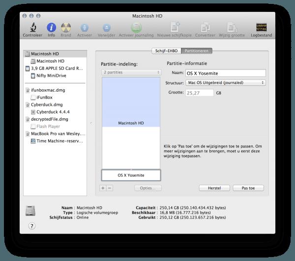 Macintosh HD partitie