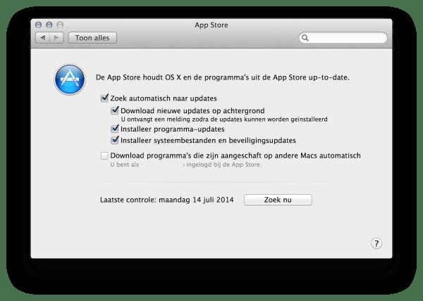 automatisch updaten osx