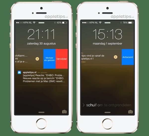 interactieve melding toegangsscherm