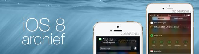 iOS 8 vanaf nu beschikbaar!