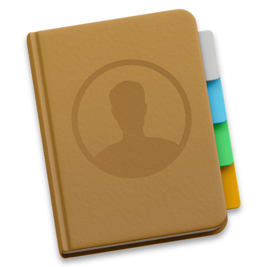 contacten applicatie logo OS X