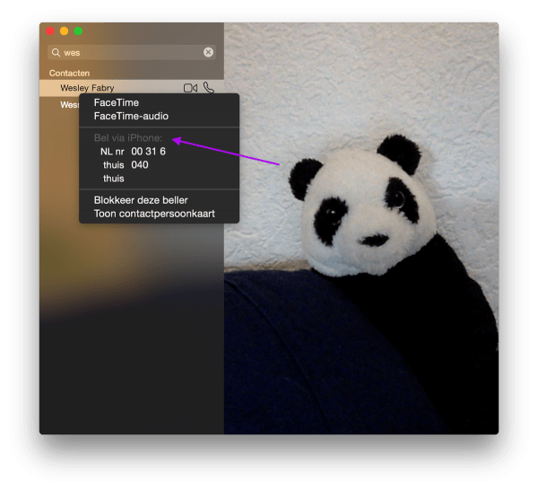 gesprekken via mac 1