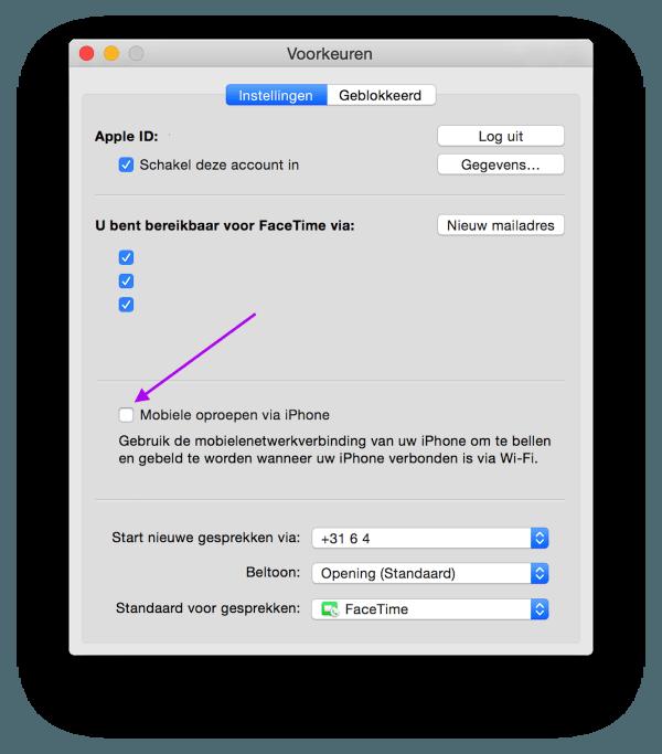 gesprekken via mac 2