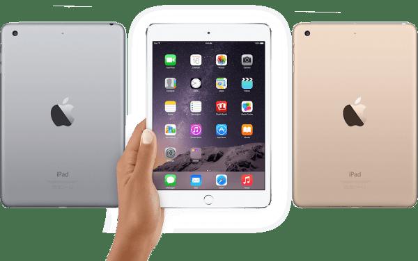 iPad mini 3 in drie kleuren