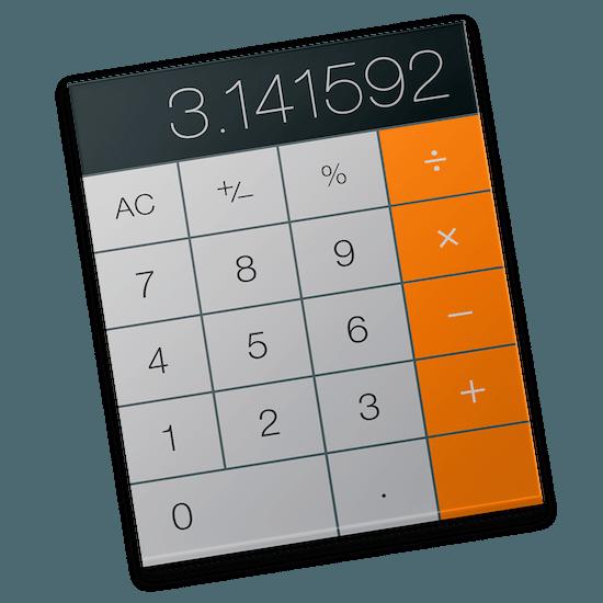 rekenmachine icoon OS X