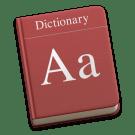 woordenboek icoon OS X