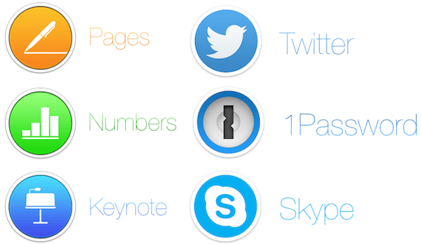 Strakke iconen voor Apps van derde