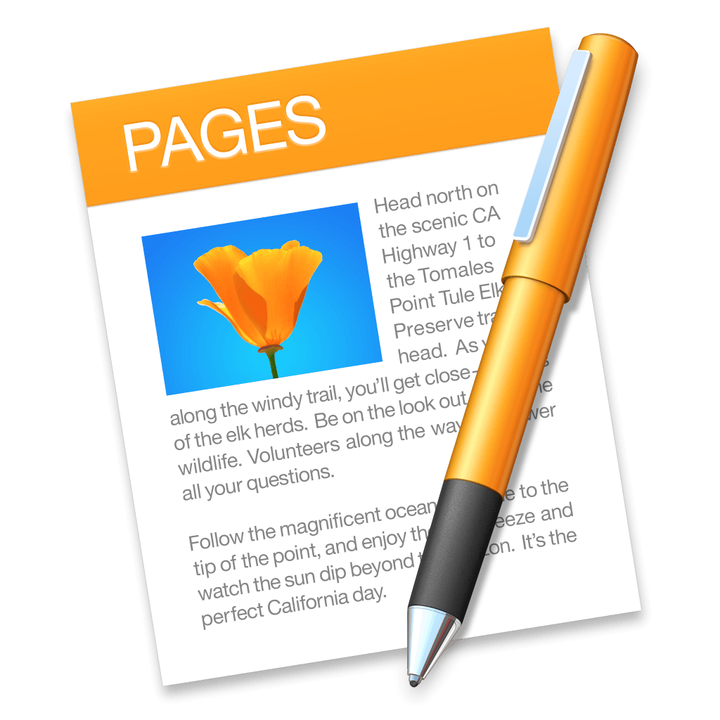 pages app in OS X