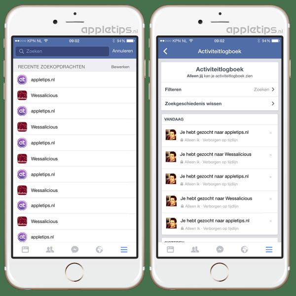 facebook geschiedeniswisseniOS